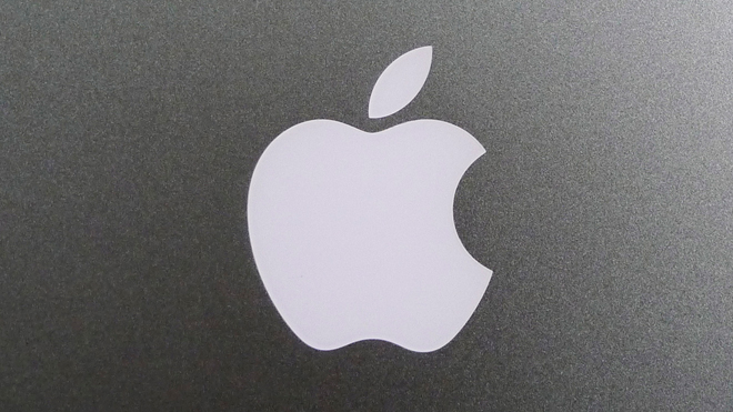 Apple Logo on Back of MacBook A