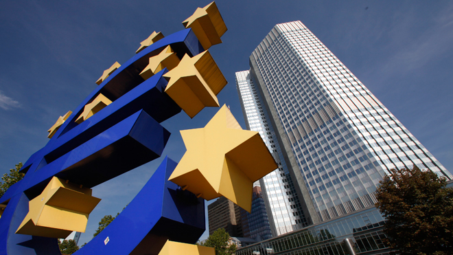 Euro Logo at European Central Bank
