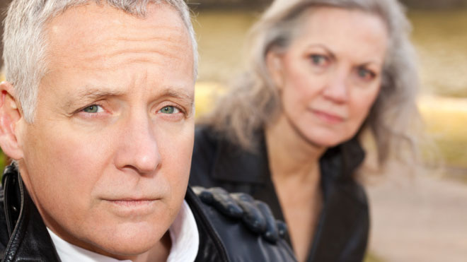 Concerned Man With Worried Wife Couple