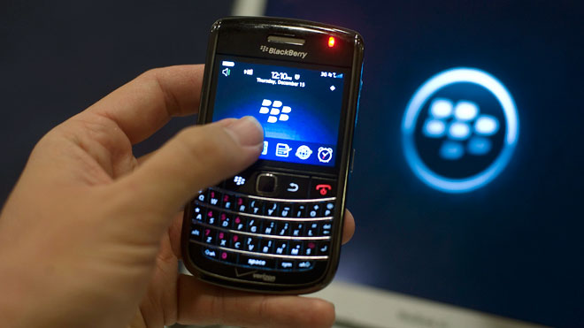 RIM BlackBerry Smartphone in Hand