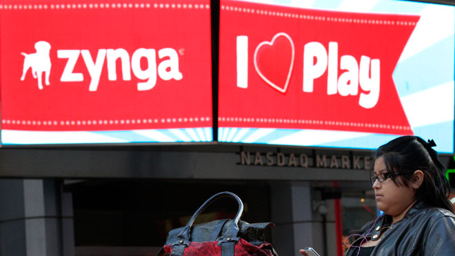 Zynga Logo at Nasdaq