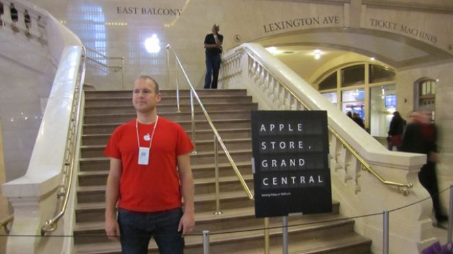 Apple Employee at Grand Central Store