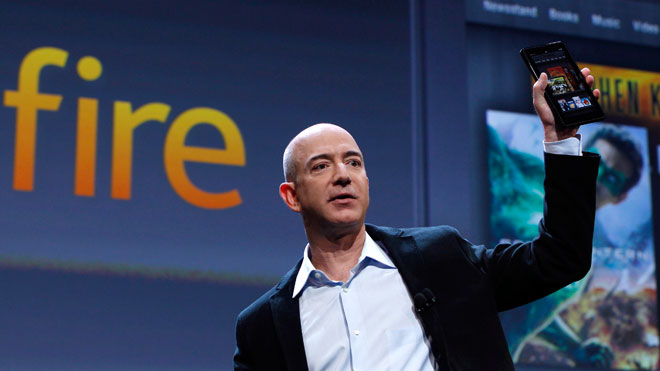 Jeff Bezos CEO Amazon Kindle Fire