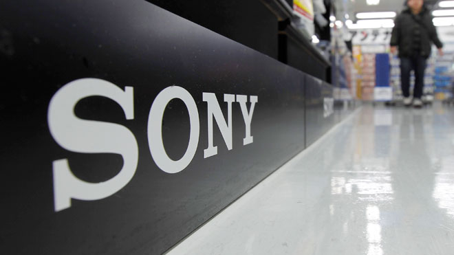 Sony Logo at Electronics Store