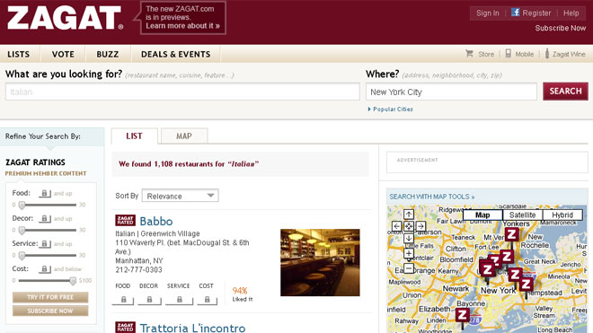 Zagat-Site-Screenshot