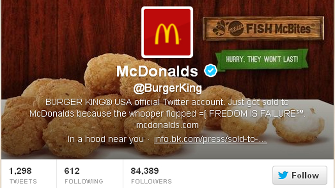 Hacked Burger King Twitter (ONLY USE FOR RELATED STORY)