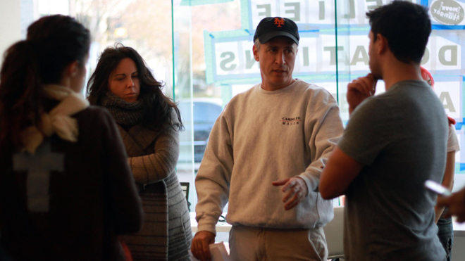 Stewart Visits Donation Center After Sandy (FOR SPECIFIC STORY)