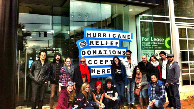 Hurricane Donations Storefront (with people) (FOR SPECIFIC STORY)
