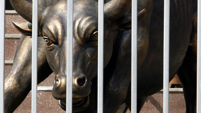 Caged Bull at the Bombay Stock Exchange (Bull Market | Bear Market)