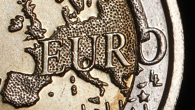 Euro Coin Closeup