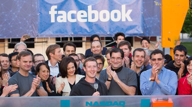 Facebook Rings the Nasdaq Bell