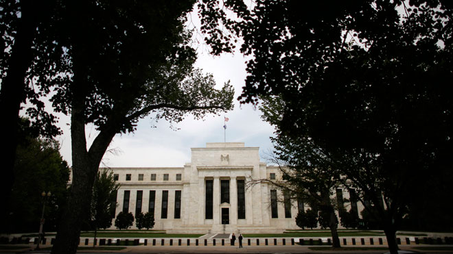 Federal Reserve Building Draped in Trees (Fed)