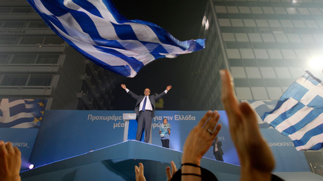 Greek New Democracy Party Leader Antonis Samaras