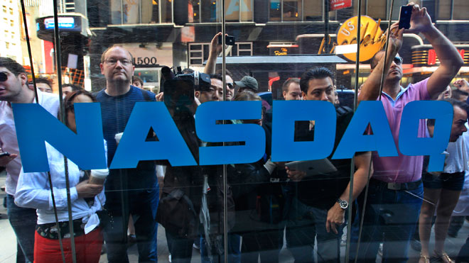 People Watch Facebook Nasdaq Debut