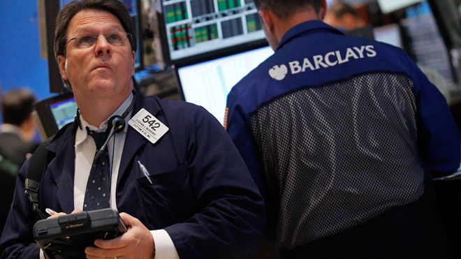 NYSE Trader Looks Up