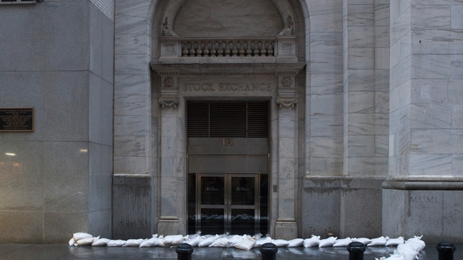 NYSE With Sandbags (Specific to Hurricane Sandy)