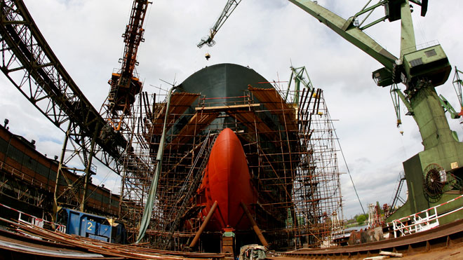 Ship / Cargo / Freighter in Dry Dock
