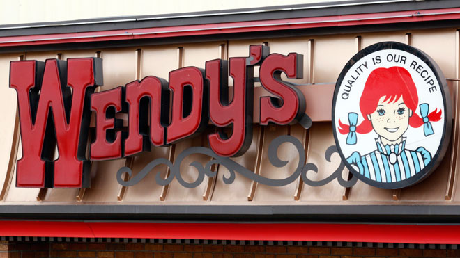 Wendy's Sign at Restaurant