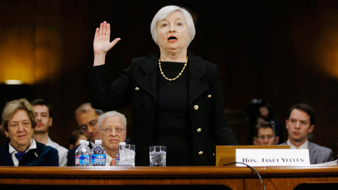 Janet Yellen, sworn in