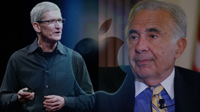 Tim Cook, Carl Icahn Apple