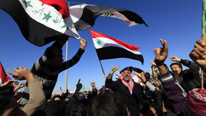 Iraq protest flag