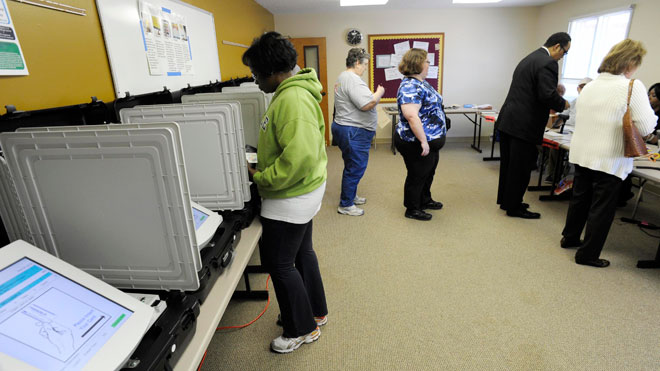 Voters Cast Ballots Super Tuesday, 2012 B