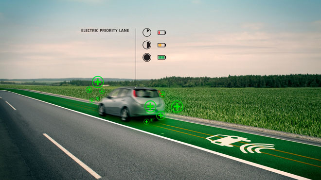 Smart Highway electric Priority Lane