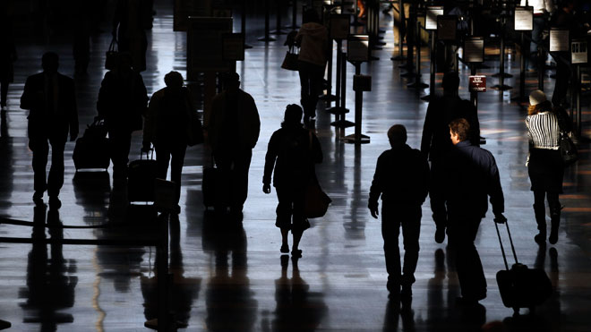 Travellers Walking at Airport