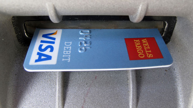 VISA, ATM, machine, credit card