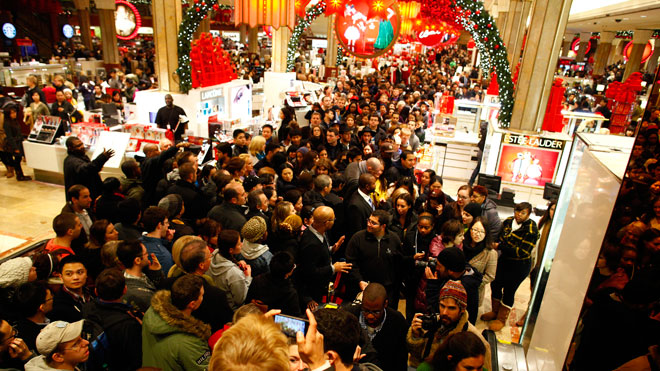 Black Friday Macys, shopping, shoppers