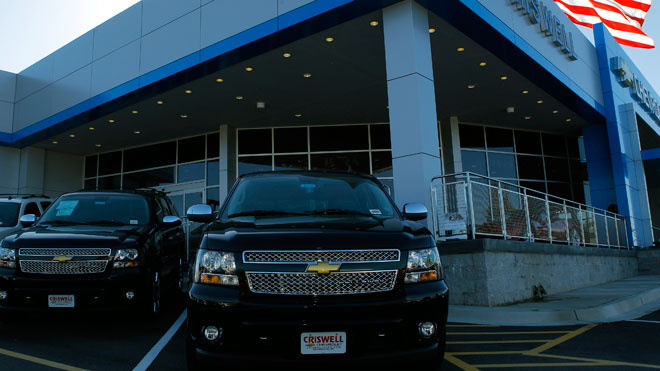 chevrolet dealership, suburban, gm, general motors