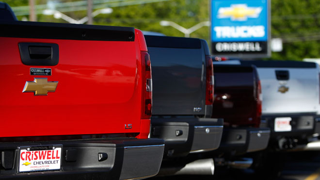 chevrolet silverado truck, car dealership, gm, general motors