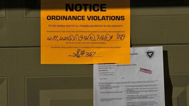 Foreclosure, foreclosed ordinance, ordinance