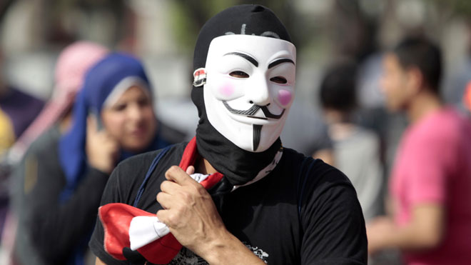 guy fawkes mask, arab protest, egypt protest