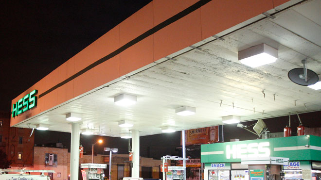 hess gas station, hess logo