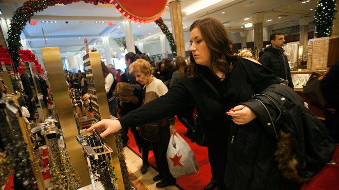 macy's, holiday shoppers