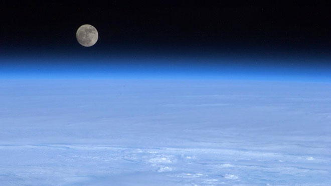 Moon, Earth, Atmosphere, space, outer space