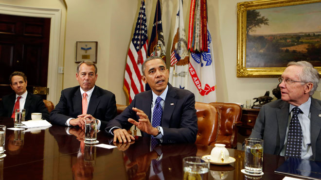 Fiscal Cliff Meeting, Fiscal Cliff Obama