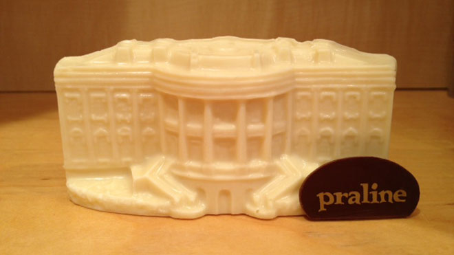 Praline, white house, chocolate, candy, inauguration