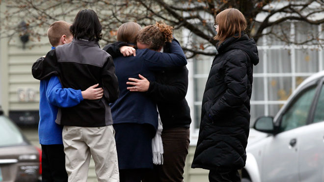sandy hook mourner