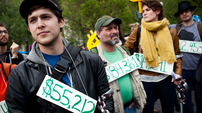 student debt, college debt, loans, occupy wall street, student loans