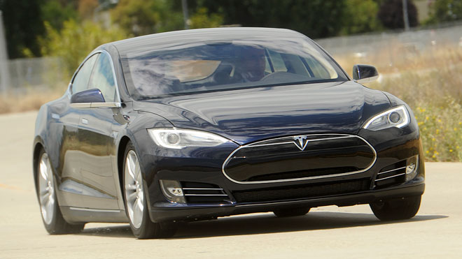 tesla model s, electric car