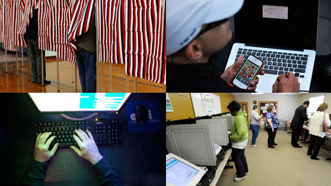 Voting Technology Collage