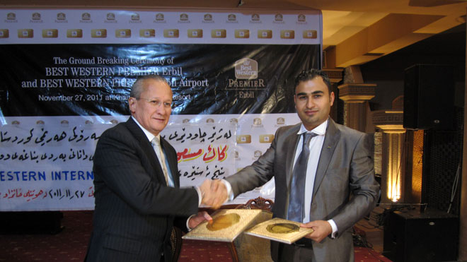 Ground Breaking Ceremony of Best Western Hotels in Erbil, Iraq