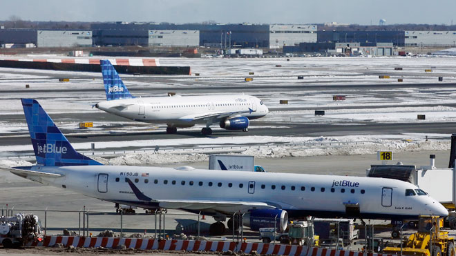 JetBlue Aircraft on Tarmac, Reuters